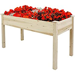 Nova Microdermabrasion Wooden Raised Garden Bed Elevated Planter Kit Growing Herb,Vegetable,Flower,Fruits For Patio Yard Gardening