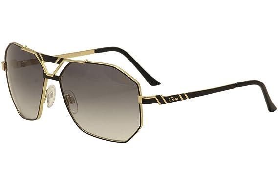 60f7b0d95d Amazon.com  Cazal 9058 Sunglasses 001SG Black Gold Grey Gradient 63 ...