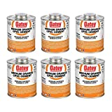 Oatey 31131 32 Oz. CPVC Pipe Hot and Cold Systems Solvent Cement Glue, Orange (6 Pack)