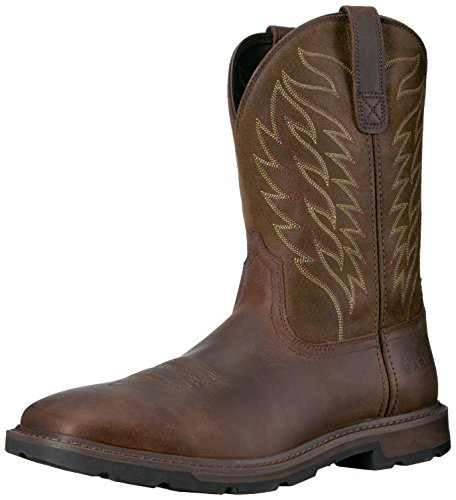 Ariat Work Men's Groundbreaker Work Boot, Brown, 10 2E US ()