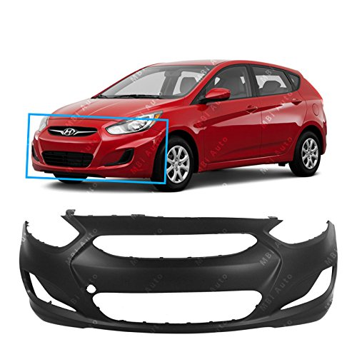 MBI AUTO - Primered, Front Bumper Cover Fascia for 2012 2013 Hyundai Accent Sedan & Hatchback 12 13, HY1000188