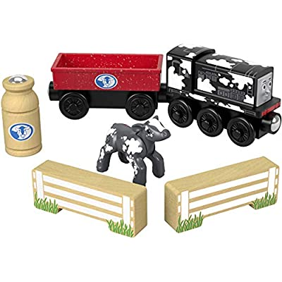 Thomas & Friends Fisher-Price Wood, Diesel's Dairy Drop-Off: Toys & Games