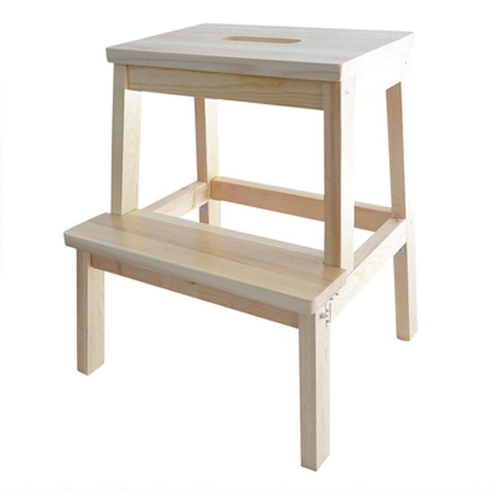 RMJAI Utility Step, Premium Bamboo Two Step Hocker Kinderbank Arbeitsstuhl für Außen-   Innenbereich   14.2x14.2x19.7inches Tritthocker (Farbe   C) C