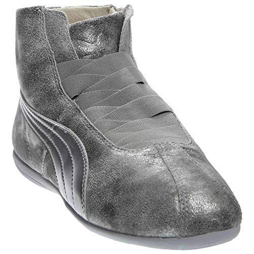 - PUMA Women's Eskiva Mid Metallic Silver Sneaker 9 B (M)
