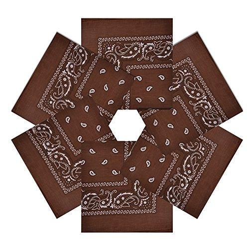 Alotpower Cute Bandanas Wreath Bandana Cotton Headbands for Home Decoration,6 Pack Light -