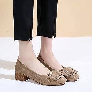 KUDICO Chaussure Femme, Tête carrée avec Bouche Peu