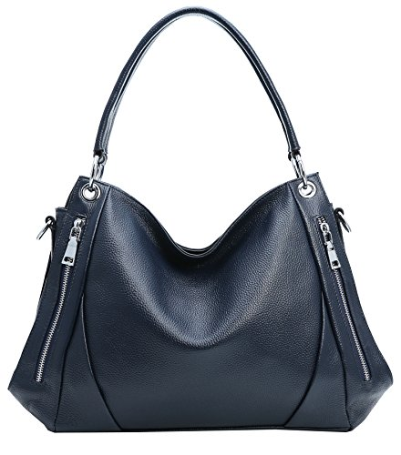 Bags Bag Tote Top Handle Body Womens Leather Cross Hobo Bag Heshe Laides Shoulder Handbags Blue 0OvwWWq8
