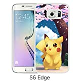 Fashion Designed Pokemon 21 White Samsung Galaxy S6 Edge Phone Case