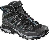 Salomon Women's X Ultra MID 2 W Spikes GTX Hiking Boot, Black/Magnet/Hydro, 9 B US