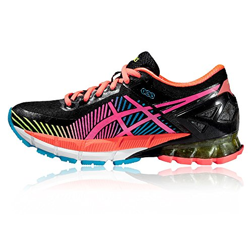 Asics Damen Gel-Kinsei 6 Gymnastikschuhe Black/Hot Pink/Flash Yellow