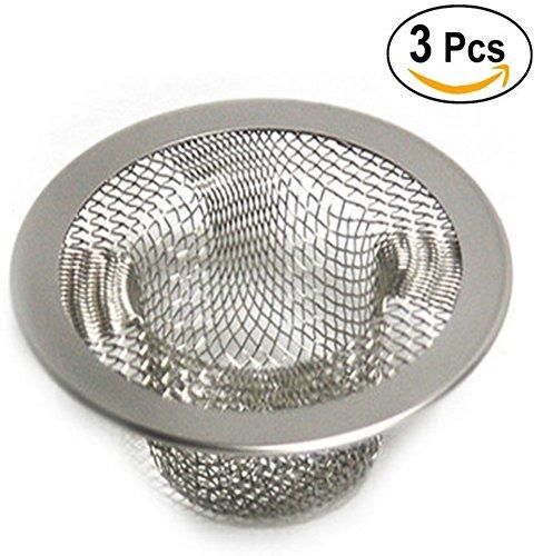 Metal Sink Strainer Bathtub Drain Hole Hair Catcher Drain Hole Filter Trap(3pcs)