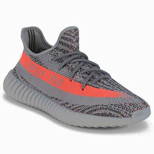 Boost 350 V2 Sneaker Uomo Scarpe Donna Scarpe Da Corsa Sply-350 Scarpe Basse Scarpe Serie Nere Scarpe Sportive Grigio / Arancio