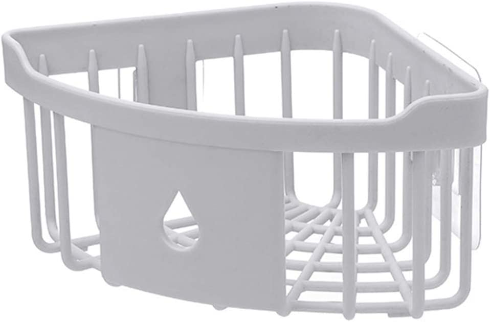 Kentop - Estantería esquinera para ducha (sin agujeros, plástico ...