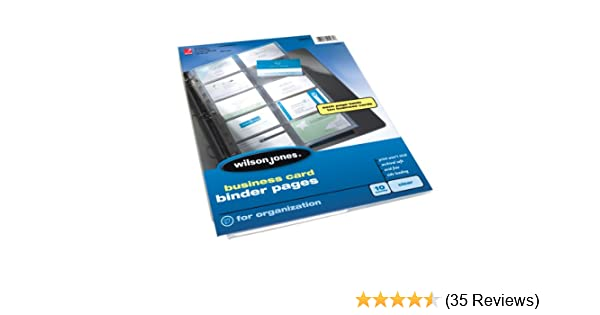 Amazon wilson jones business card binder page 85 x 11 inches amazon wilson jones business card binder page 85 x 11 inches untabbed 10 pack clear w21471 sheet protectors office products colourmoves