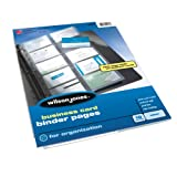 Wilson Jones Business Card Binder Page, 8.5 x 11 Inches, Untabbed, 10-Pack, Clear (W21471)