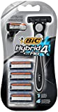 BIC Hybrid 4 Flex Disposable/System Razor, Men, 4-Count