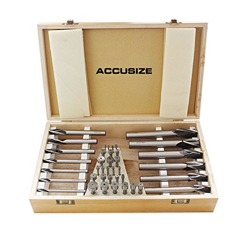 AccusizeTools - 39 Pcs/Set HSS Interchangeable Pilot Counterbore Set, #500S-A000 by Accusize Industrial Tools