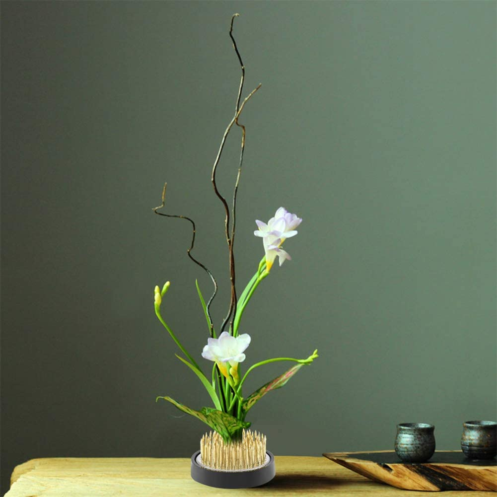 Yinuoday Ikebana Kenzan Flower Frog Round,Multi-Size Floral Arrangement Supplies Flower Pins Holder Frog Fixed Tools for Art Craft Floral Arrangement