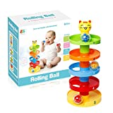 Belegend 5 Layer Ball Drop Roll Swirling Tower for Baby Toddler Development Educational Toys