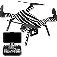MightySkins Protective Vinyl Skin Decal for 3DR Solo Drone Quadcopter wrap cover sticker skins Black Zebra