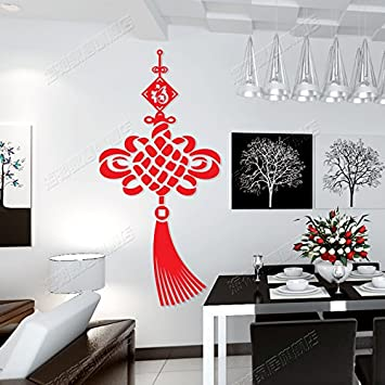Generic Creative Chinese Knot Acrylic 3D Wall Stickers Room Living Entrance Hall Dining