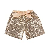 #10: Messy Code Baby Girls Shorts Toddlers Short Sequin Pants with Bow