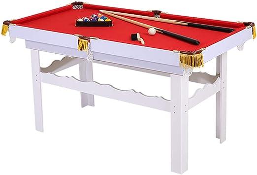 Lcyy-game Mesa de Billar de Mesa con Patas. Incluye 2-Pieces Pool Cues, 1 Juego de Bolas de Billar, Tiza, Pincel y triángulo Rojo: Amazon.es: Hogar