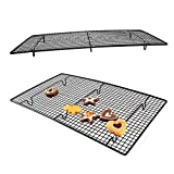 BELUPAI Non-stick Cake Cooling Rack Cookies, Cakes, Breads - Oven Safe for Cooking, Roasting, Grilling Sturdy Fast Cool for 10x 18 Inches Fits Half Sheet Cookie Pan Baked dessert Cooling