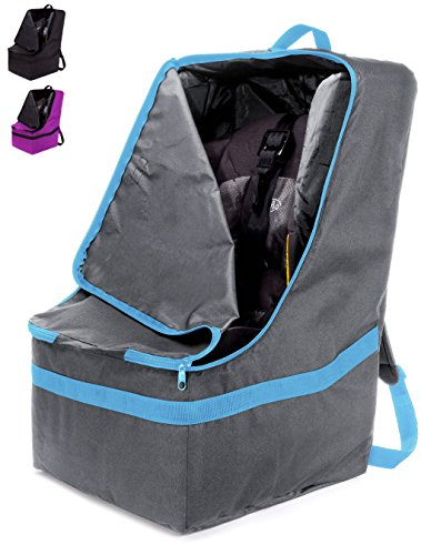 Read About ZOHZO Car Seat Travel Bag — Adjustable, Padded Backpack for Car Seats — Car Seat Trav...
