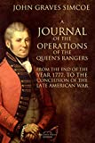 A Journal of the Operations of the Queen's Rangers from the End of the Year 1777, to the Conclusion of the Late American War