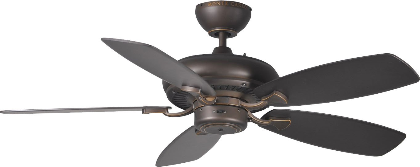 Monte Carlo 5DM44RB Transitional 44 Ceiling Fan from Designer Max II Collection in Bronze Dark Finish, 13.10 inches, See Image