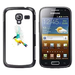Caucho caso de Shell duro de la cubierta de accesorios de protección BY RAYDREAMMM - Samsung Galaxy Ace 2 - Pájaro del arco iris