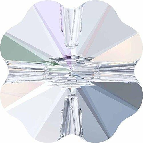 5752 Swarovski Crystal Beads Clover | Crystal | 8mm - Pack of 4 | Small & Wholesale Packs