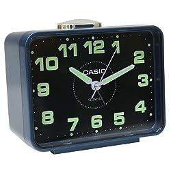 Casio Tq-218-2 Table Top Travel Alarm Clock Blue