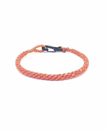 Brown Cotton Cord Thai Wristband Bracelet Handcrafted Wristwear