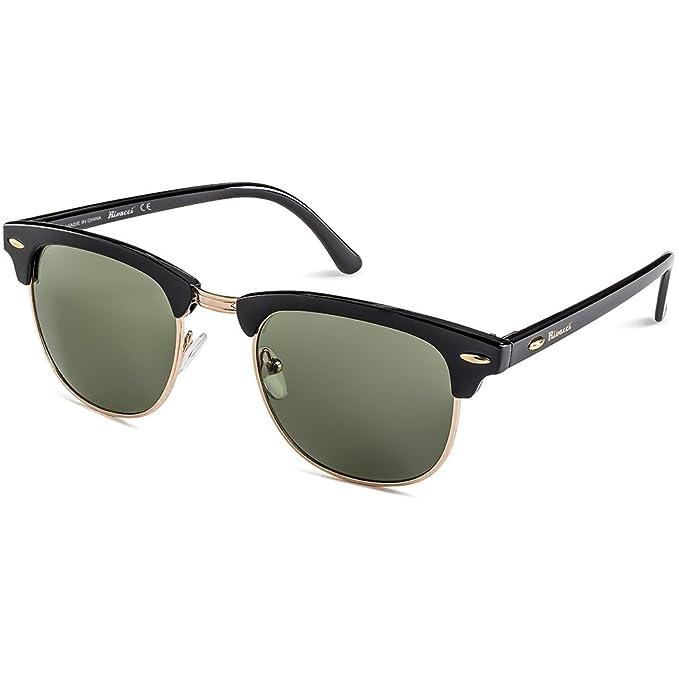 Rivacci Gafas de Sol de Moda Polarizadas - Marca Retro/Vintage - Lentes Deportivas - Dorado Negras / G15 (Verde/Gris) Polarizado: Amazon.es: Deportes y aire ...