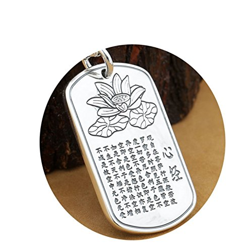 Epinki 925 Sterling Silver Women Men Necklace Buddha Pendant Buddhism Thick-A95 by