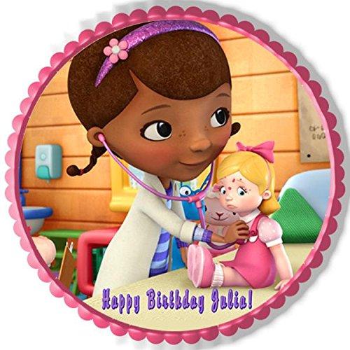 Doc McStuffins 2 Edible Birthday Cake OR Cupcake Topper - 6