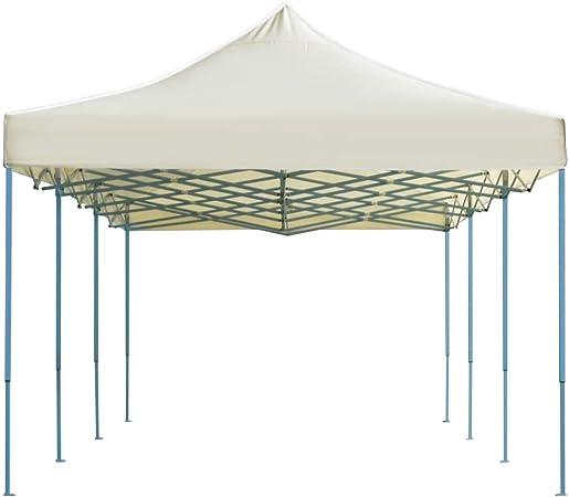 tidyard Carpa Plegable de Jardín para Boda Camping Barbacoa Fiesta Celebraciones para Evento al Aire Libre,Cenador para Patio,Estructura de Acero,Resistente al Agua,Crema 3x9m: Amazon.es: Hogar