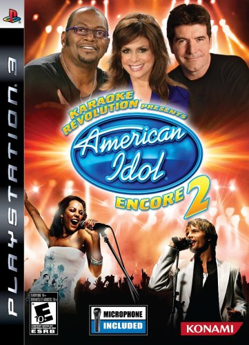 Karaoke Revolution: Presents American Idol Encore 2 with Microphone - Playstation 3 (Konami American Idol Karaoke Games)
