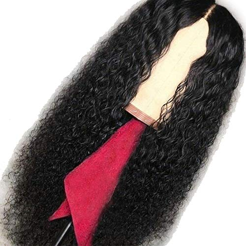 (Curly Wig Brazilian Lace Front Human Hair Wigs For Women Black Color Pre Plucked With Natural Hairline Bleached)
