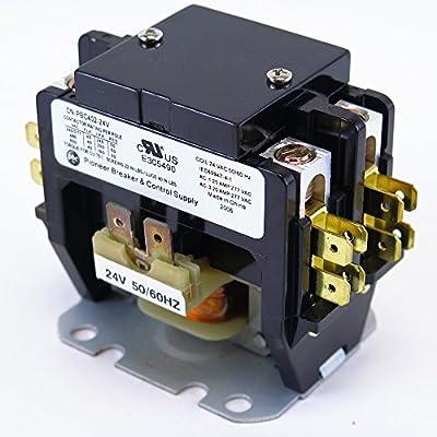 YuCo CN-PBC402-24V DEFINITE PURPOSE CONTACTOR 40A 2P 24V 40 FLA 50 RES FITS DP30C2P-F AC & HEATING CONTACTOR AIR CONDITIONING CONTACTOR HVAC CONTACTOR