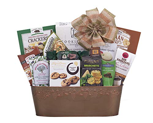 Remarkable Gift Co. Sweet and Savory Collection Favorite Gift Basket With Cookies, Crackers, Chocolate and ()