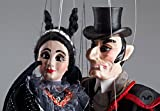 Mr. and Mrs. Dracula Marionettes - Handmade String Puppets from Prague