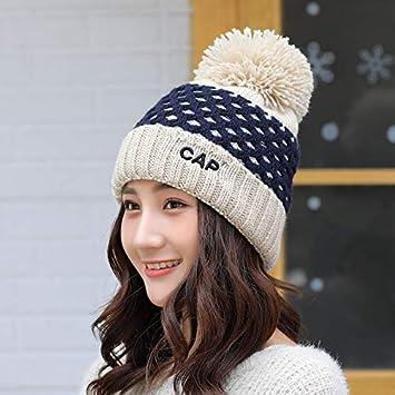 a46f9cb69feaaa HAOLIEQUAN Skullies For Ladies Knitted Hat Women Beanie Hat Women Winter  Hats For Women Pom Pom