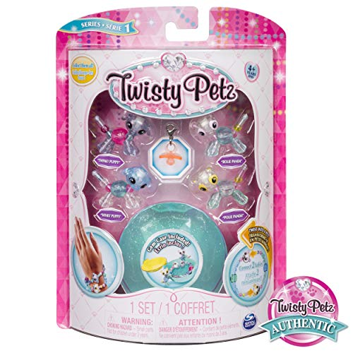 Twista Dragons - Twisty Petz - Babies 4-Pack Pandas and Puppies Collectible Bracelet Set for Kids