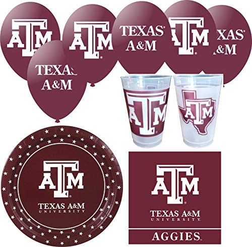 Texas A&m Decorations (Texas A&M Aggies Party Supplies for 24 Guests - 91)