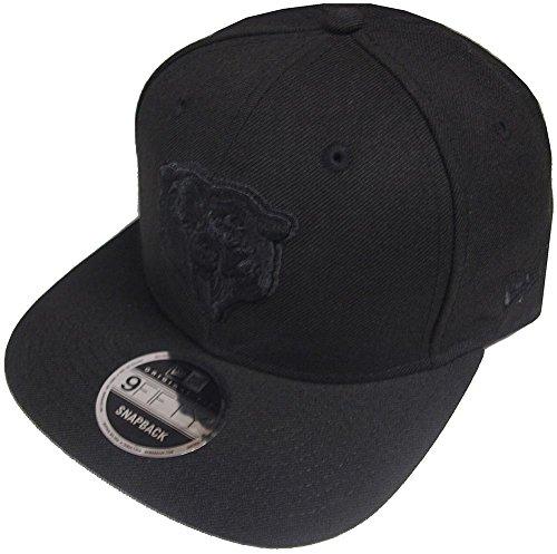 (New Era NFL Chicago Bears Black On Black Snapback Cap 9fifty Limited Edition)