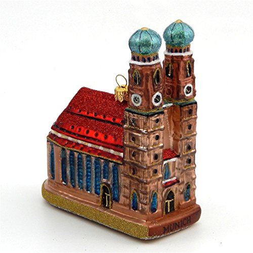 Munich Frauenkirche Cathedral - Blown Glass Ornament - Made in Poland