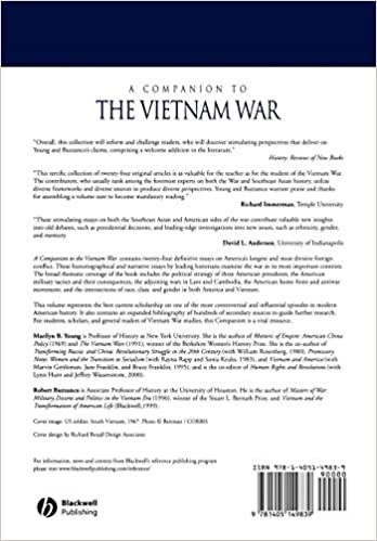 amazoncom a companion to the vietnam war  marilyn  a companion to the vietnam war edition unstated edition